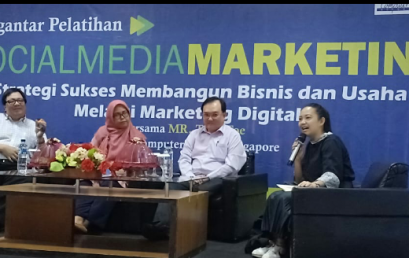 Kerjasama dengan Genetic Computer School ; STIE Nobel gelar pengantar pelatihan sosial media marketing